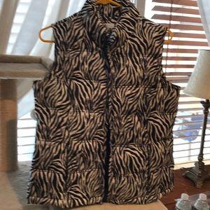 Zebra puffer vest